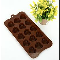 """Силиконовая форма для конфет """"Сердечки"""" YH-417 арт. 822-15A-16, фото 3"""