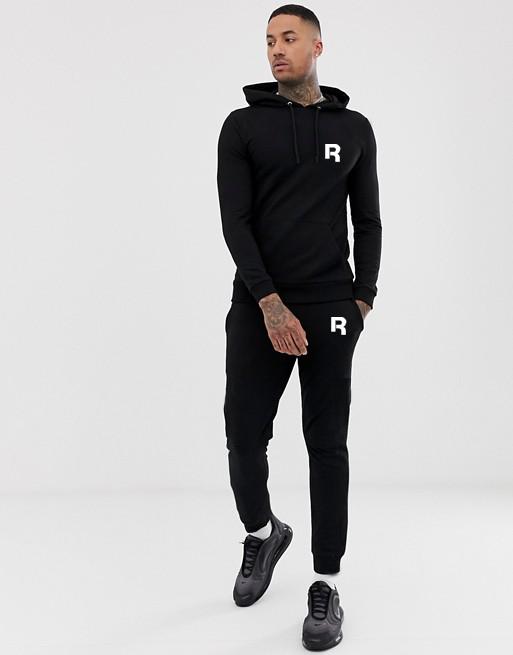 Серый мужской спортивный костюм Reebok (Рибок) на лето