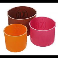 Набор силиконовых форм для выпечки куличей пасок.(плотные).
