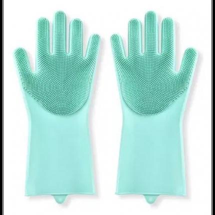 Силіконові рукавички для миття посуду арт. 840-617528, фото 2