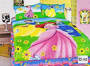 Комплект детского постельного белья ELWAY (Польша) 3D сатин полуторное (143)