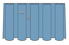 Фуршетна спідниця з липучкою 4,60/0,72 Біла для столу 75х150см Стандартної висоти, фото 3