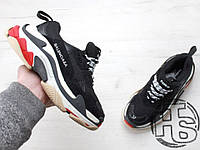 Женские кроссовки Balenciaga Triple S Trainers Black/White/Red 490672W06E11000