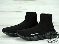 Женские кроссовки Balenciaga Knit High-Top Sneakers Triple Black 504880899