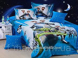 Комплект детского постельного белья ELWAY (Польша) 3D сатин полуторное (205)