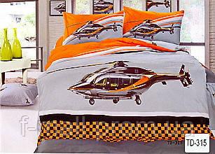 Комплект детского постельного белья ELWAY (Польша) 3D сатин полуторное (315)