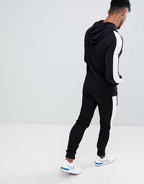 Тренувальний зимовий чоловічий костюм Adidas, Адідас, в стилі, чорний, фото 2
