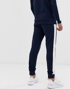 Мужской  спортивный костюм  для тренировок Найк, в стиле, синий, фото 2