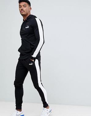 Спортивный зимний костюм кенгуру Puma, Пума, в стиле, черный, фото 2