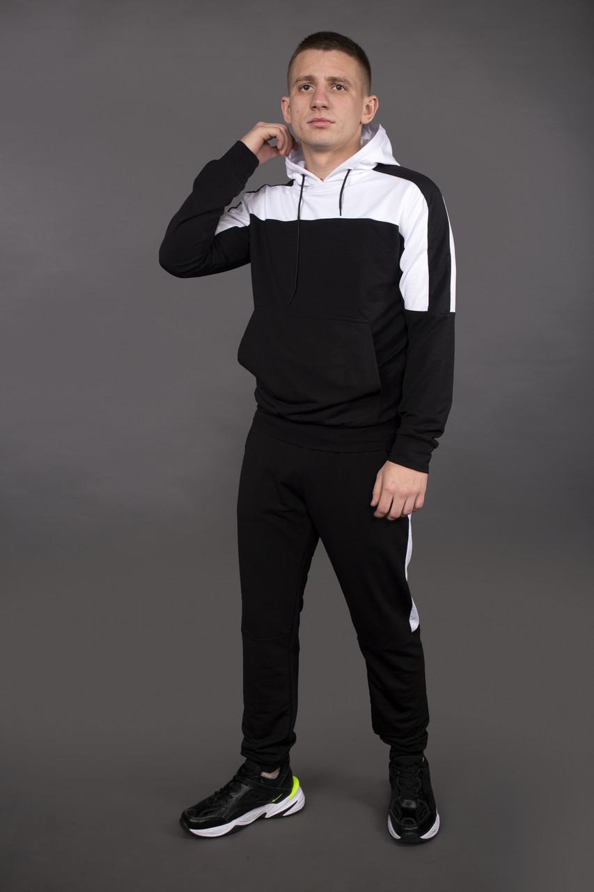 Костюм мужской спортивный черно-белый Spirited