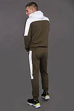 Костюм мужской спортивный хаки-белый Spirited, фото 2