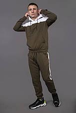 Костюм мужской спортивный хаки-белый Spirited, фото 3