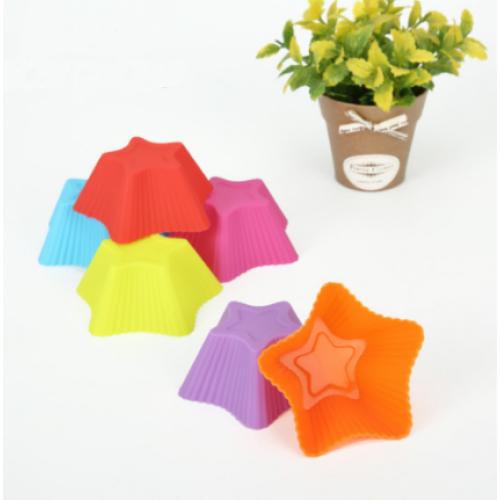 """Набор силиконовых форм для выпечки кексов """"Звёздочка"""" YH-023 арт. 822-15A-4"""