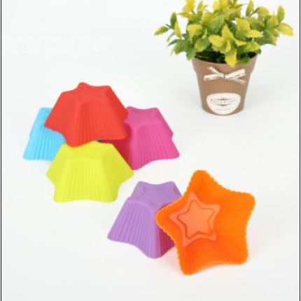 """Набор силиконовых форм для выпечки кексов """"Звёздочка"""" YH-023 арт. 822-15A-4, фото 2"""