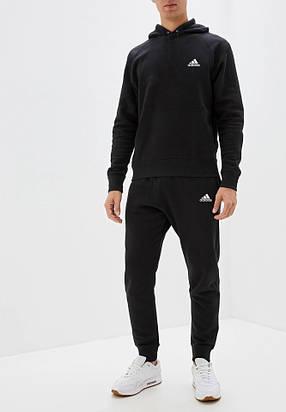 Мужской спортивный костюм кенгуру для пробежек Adidas (Адидас) с капюшоном, фото 2