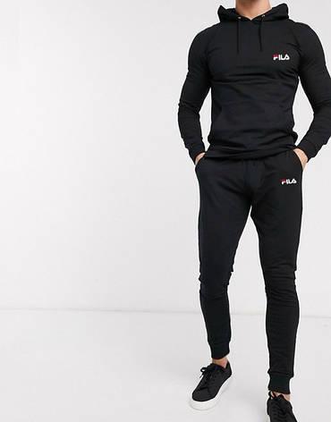 Спортивный Летний костюм Fila (Фила) с капюшоном, трикотажный, фото 2