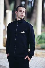 Спортивный костюм кенгуру черный трикотажный, мужской, фото 3