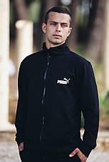 Спортивный костюм кенгуру черный трикотажный, мужской, фото 2