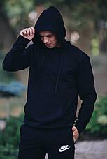 Спортивний костюм кенгуру чорний трикотажний, чоловічий, фото 2