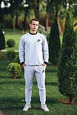 Спортивный костюм мужской серый трикотажный, фото 3