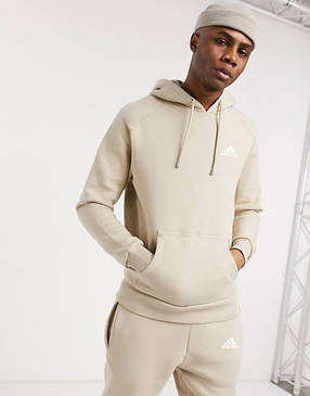 Спортивний чоловічий костюм Adidas (Адідас) бежевий, фото 2