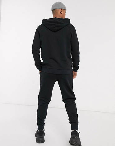 Спортивный мужской костюм Adidas (Адидас) черный, фото 2