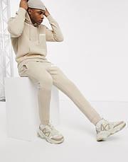 Спортивний чоловічий костюм Asics (Асікс) бежевий, фото 2
