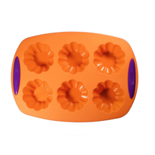"""Силиконовая форма для выпечки кексов """"Корзинка"""" SC-1505 арт. 822-6-4"""