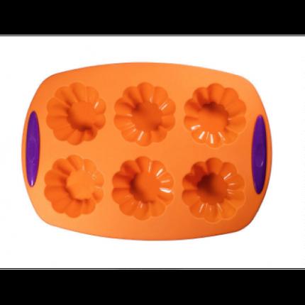 """Силиконовая форма для выпечки кексов """"Корзинка"""" SC-1505 арт. 822-6-4, фото 2"""