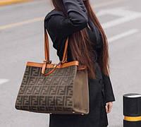 Стильна жіноча сумка FENDI 42 см (репліка), фото 1