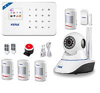 Сигнализация GSM KERUI W18 с Wi-Fi IP камерой для 4-х комнатной квартиры GHJD7D, КОД: 1918959