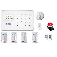 Беспроводная GSM сигнализации Kerui G18 для 4-х комнатной квартиры GDJJFH78FKIIF, КОД: 1580295