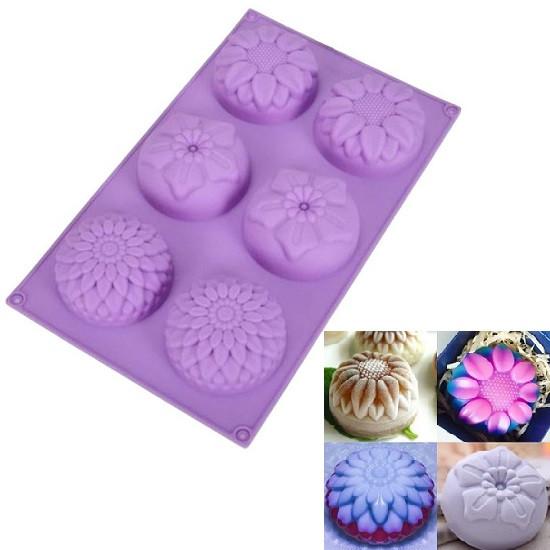 """Силиконовая форма для выпечки кексов """"Цветы"""" YH-008 арт. 822-15A-14"""