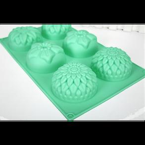 """Силиконовая форма для выпечки кексов """"Цветы"""" YH-008 арт. 822-15A-14, фото 2"""