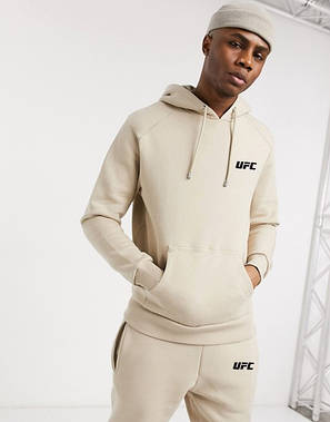 Спортивный мужской костюм UFC (ЮФС) бежевый, фото 2