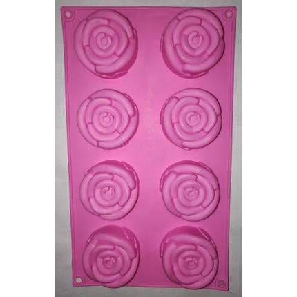 """Силиконовая форма для выпечки кексов """"Цветы"""" арт. 850-720732, фото 2"""