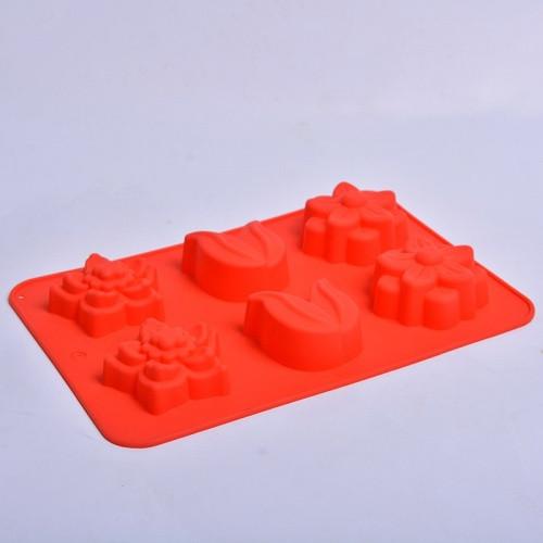 """Силиконовая форма для выпечки кексов """"Цветы"""" СК3-448 арт. 822-10-2"""