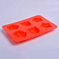 """Силиконовая форма для выпечки кексов """"Цветы"""" СК3-448 арт. 822-10-2, фото 2"""