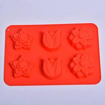 """Силиконовая форма для выпечки кексов """"Цветы"""" СК3-448 арт. 822-10-2, фото 3"""