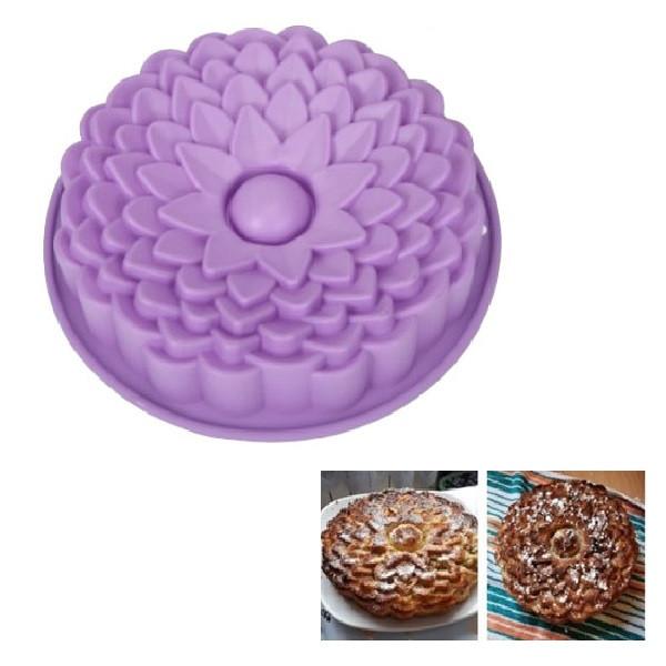 """Силиконовая форма для выпечки кексов и пирогов """"Цветы"""" YH-080 арт. 822-15A-8"""