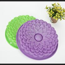 """Силиконовая форма для выпечки кексов и пирогов """"Цветы"""" YH-080 арт. 822-15A-8, фото 2"""