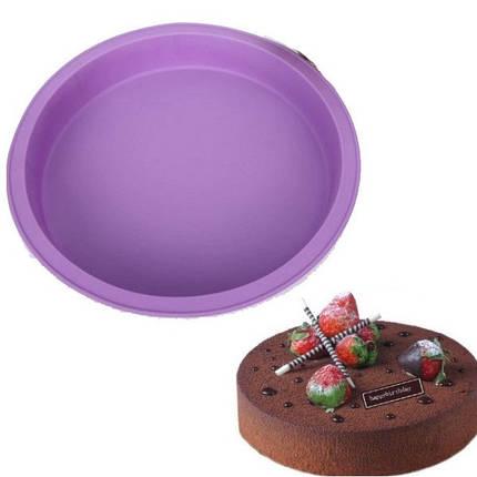 Силиконовая форма для выпечки круглая YH-333 арт. 830-15A-13, фото 2