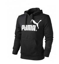 Мужская (женская) спортивная толстовка, кенгуру Puma, Пума в стиле,  черная