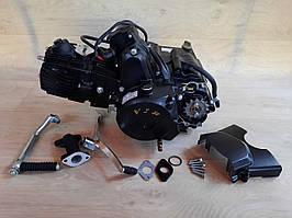 Двигатель на мопед Альфа; Дельта 110 куб, механика черный.