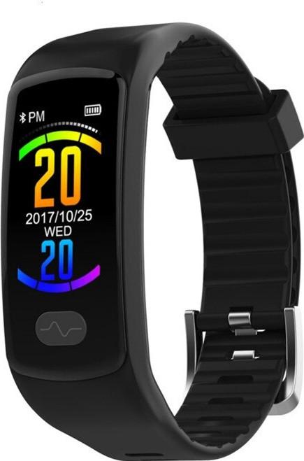 Фитнес браслет Lemfo E07 с тонометром и ЭКГ (Черный)