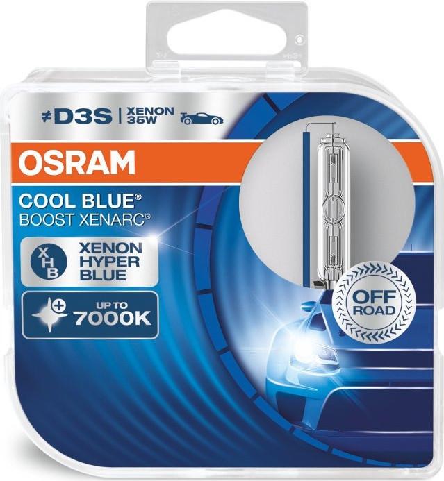 Комплект ксеноновых ламп Osram D3S 66340CBB-HCB Xenarc CoolBlueBoost
