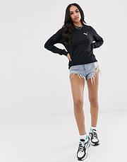 Спортивный женский свитшот Puma (Пума) Черный, фото 2