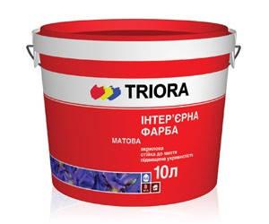 Краска интерьерная матовая стойкая к мытью TRIORA, 10 л, фото 2