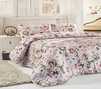Покрывало с наволочками Eponj Home Madame розовое 200*220