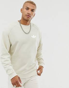 Кофта свитшот мужская Adidas (Адидас) Бежевая, фото 2